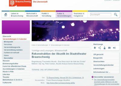 Ringvorlesung an der TU Braunschweig