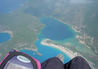 über der blauen Lagune